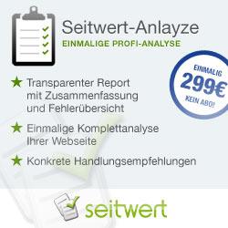 Seitwert Analyze - die SEO-Profianalyse