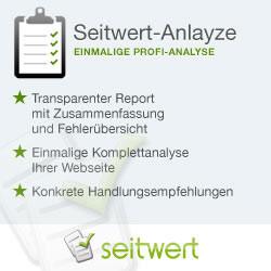 Seitwert-Analye - Komplettanalyse der Website