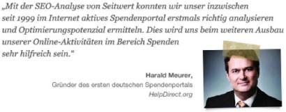 SEO Tool Nutzer Harald Meurer