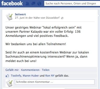 Mit Facebook Post Social Signals gewinnen