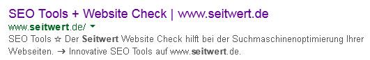 SEO-Suchergebnis-Aufbau