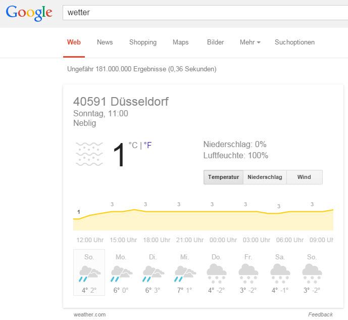 google-suchergebnis-wetter