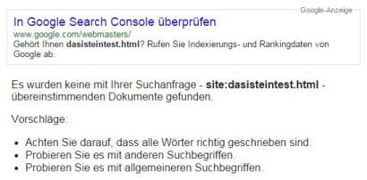 google-site-abfrage-test