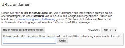 google-webmaster-tools-url-entfernen